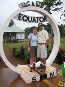 Uganda 022 Rocky & Julie at Equator