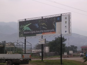 Uganda 161 Welcome Billboard